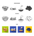 assorted nuts fruits and other food food set vector image vector image