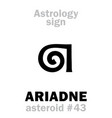astrology asteroid ariadne vector image vector image