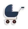 baby stroller icon vector image vector image