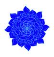 blue rose flower vintage scandinavian shape vector image