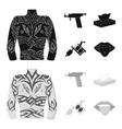 body tattoo piercing machine napkins tattoo set vector image vector image