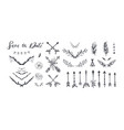 boho style collection for tattoo vector image vector image