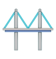 Bridge with iron supports icon cartoon style vector image vector image