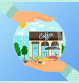 business concept for opening coffee cafe vector image vector image