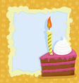 Cartoon Birthday cake card vector image