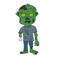 cartoon zombie vector image