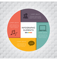 Circle square infographic vector image vector image