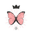 colored butterfly emblem vector image vector image