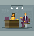 colourful a job interview vector image