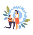 couple in love man and woman dating male making vector image
