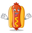 crazy hot dog cartoon character vector image