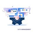 data management business abstract vector image vector image