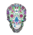 Day Of The Dead Skull on a background vector image vector image