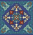 decorative emerald ornament vector image vector image