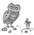 Decorative Owl and Mouse Cartoon vector image vector image