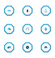 device icons colored set with headphone vector image vector image