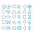 diamond shapes set vector image vector image