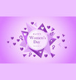 festive card 8 march on women s day with figure vector image vector image