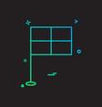 flag icon design vector image