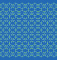 flowers pattern ornament blue vector image
