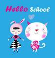 funny of a hello school vector image vector image