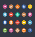 Glyphs Colored Icons 11 vector image vector image