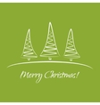 Greeting card with Christmas trees vector image vector image
