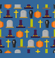 halloween seamless pattern background for vector image vector image