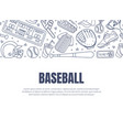 hand drawn baseball symbols used in card vector image vector image