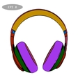 hand-drawn sketch of headphones 2 vector image vector image