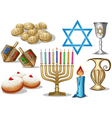 Hanukkah Symbols Pack vector image