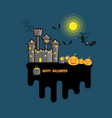 happy halloween background flat design vector image