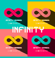 infinity symbol endless signs set retro limitless vector image