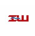 iW company logo vector image vector image