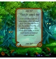 Landscape with mystical nature and frame for text vector image vector image