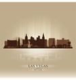 Las Vegas Nevada skyline city silhouette vector image vector image