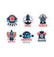 mars project logo collection space exploration vector image
