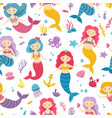 mermaid pattern printable underwater mermaids vector image vector image