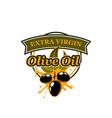 olive oil emblem vector image
