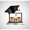 online education concept college building vector image vector image