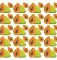 papaya seamless pattern design vector image vector image