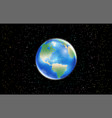 planet earth globe with space star background vector image vector image