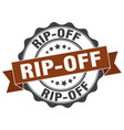 rip-off stamp sign seal vector image
