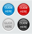 round web buttons click here icons vector image