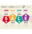 Sale infographic timeline Time line of shoping vector image vector image