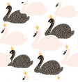 seamless childish pattern with black and white vector image vector image
