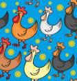 seamless rooster vector image vector image