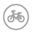 Sign bike icon outline style vector image vector image