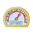 Speedometer and odometer icon cartoon style vector image vector image