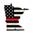 state minnesota firefighter support flag vector image vector image